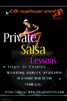Private Salsa lessons in Cannock