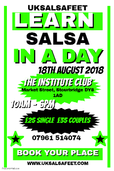 learn salsa quickly in Burton on trent