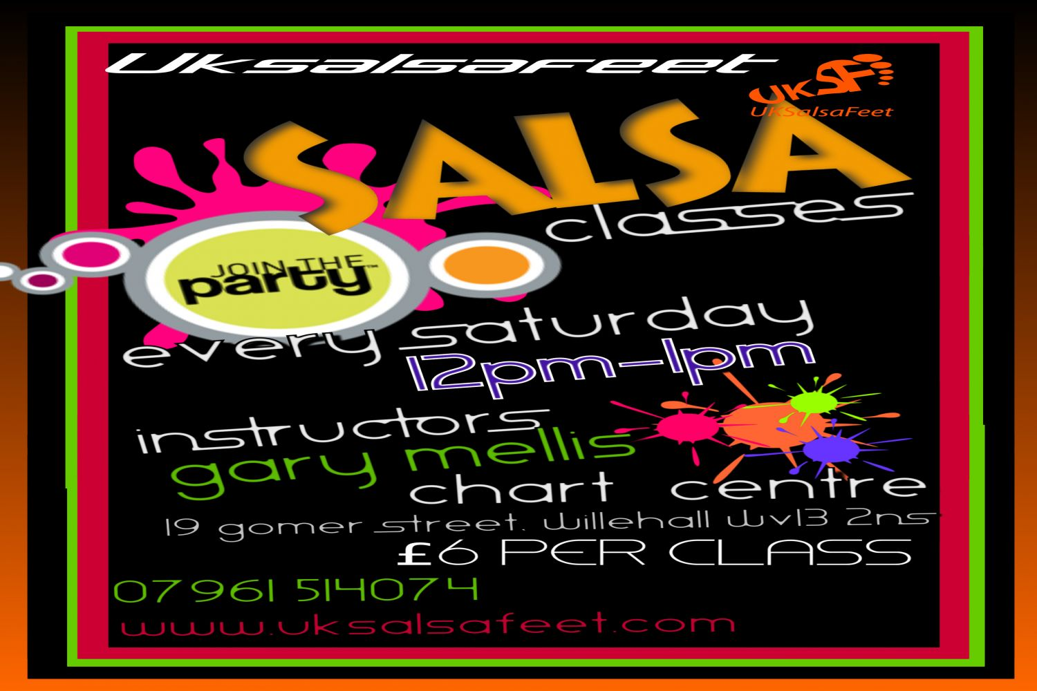 Saturday afternoon salsa dance classes