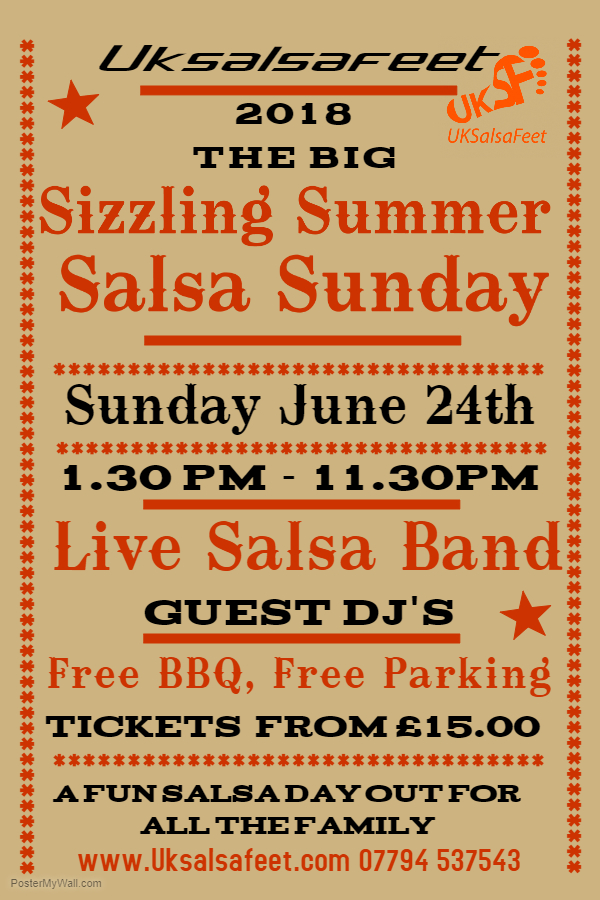 salsa party in and out doors